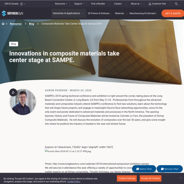 Innovations In Composite Materials Take Center Stage At SAMPE 2018 - Stratasys Blog