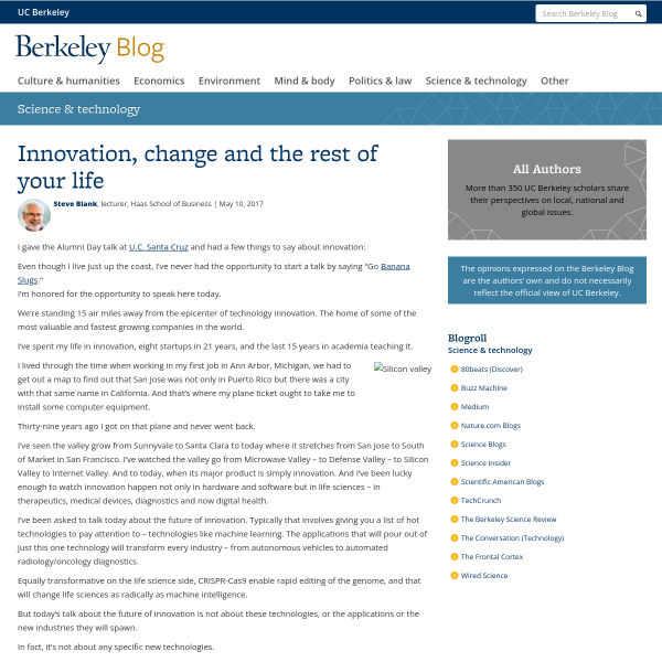 Innovation, change and the rest of your life