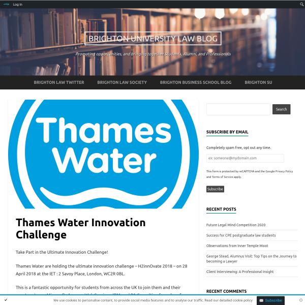 Thames Water Innovation Challenge