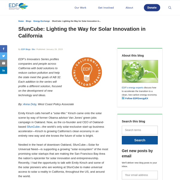 SfunCube: Lighting the Way for Solar Innovation in California