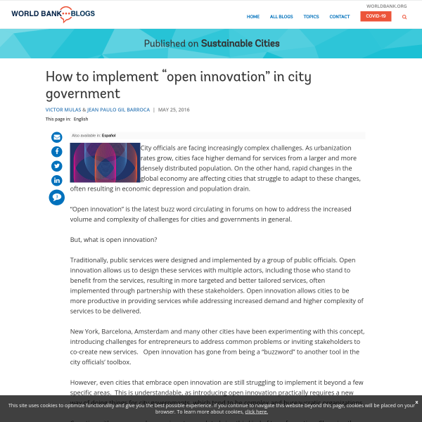 "How to implement ""open innovation"" in city government"