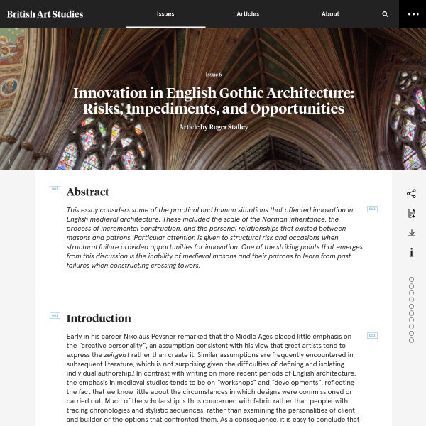 Innovation in English Gothic Architecture
