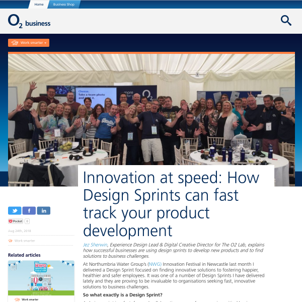 Innovation at speed: How Design Sprints can fast track your product development - O2 Business Blog