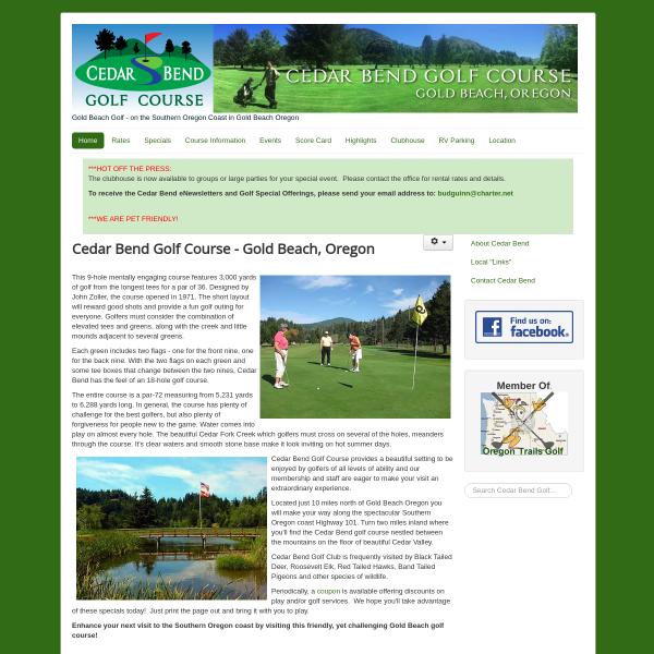 Cedar Bend Golf