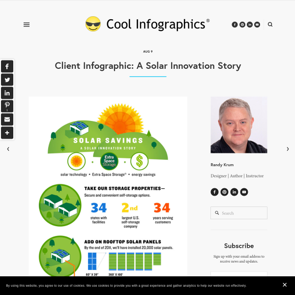 Client Infographic: A Solar Innovation Story - Blog About Infographics and Data Visualization - Cool Infographics