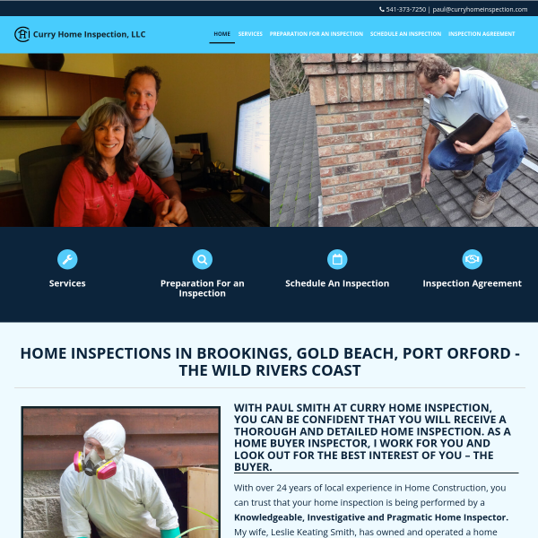 Serving Brookings, Gold Beach, Port Orford, Curry County Home Inspections