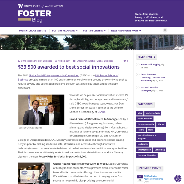 $33,500 awarded to best social innovations - Foster Blog
