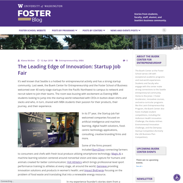 The Leading Edge of Innovation: Startup Job Fair - Foster Blog
