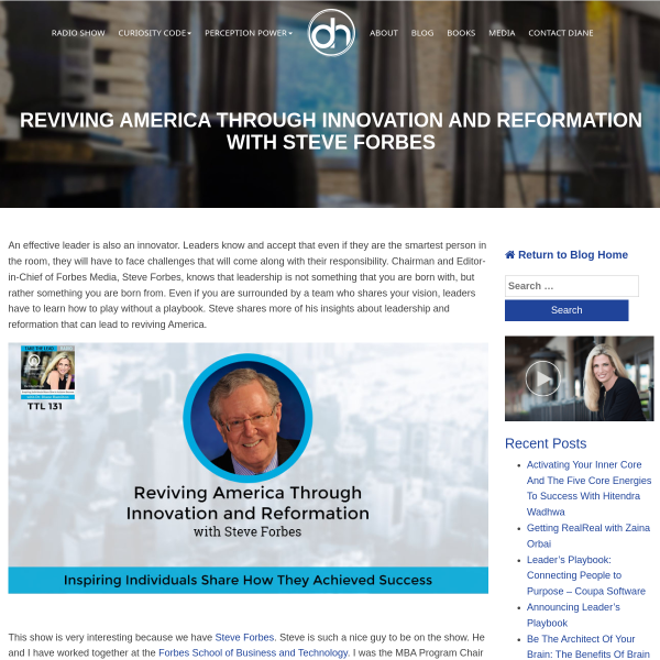 Reviving America Through Innovation and Reformation with Steve Forbes