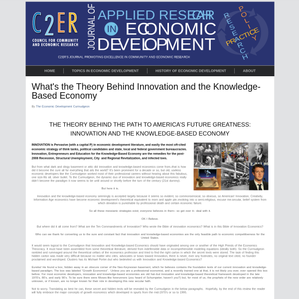 What's the Theory Behind Innovation and the Knowledge-Based Economy
