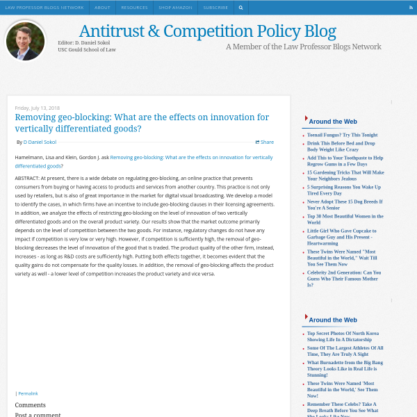 Antitrust & Competition Policy Blog: Removing geo-blocking: What are the effects on innovation for vertically differentiated goods?