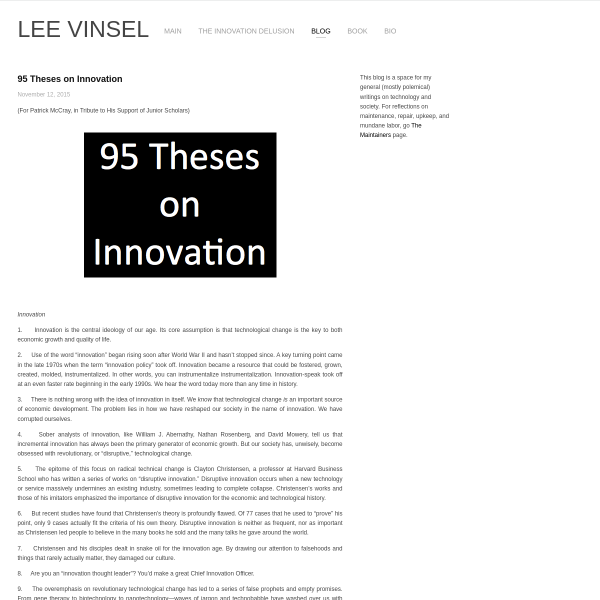 95 Theses on Innovation
