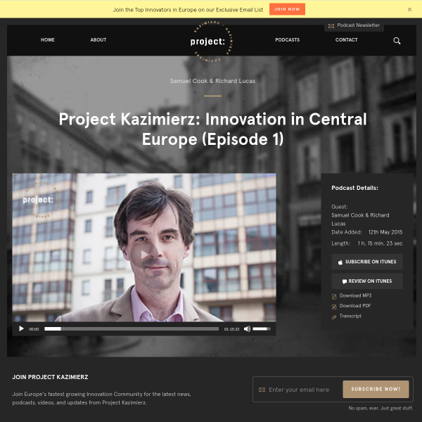 Project Kazimierz: Innovation in Central Europe (Episode 1)