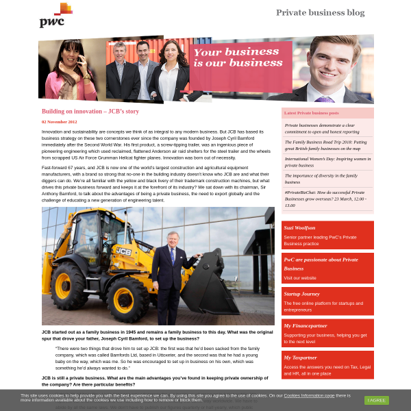 Building on innovation – JCB's story - Private business