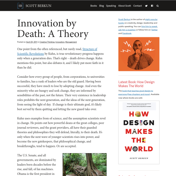 Innovation by Death: A Theory