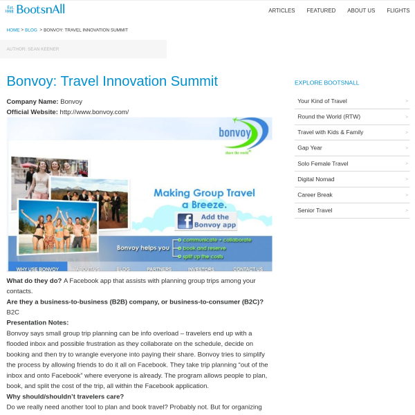 Bonvoy: Travel Innovation Summit