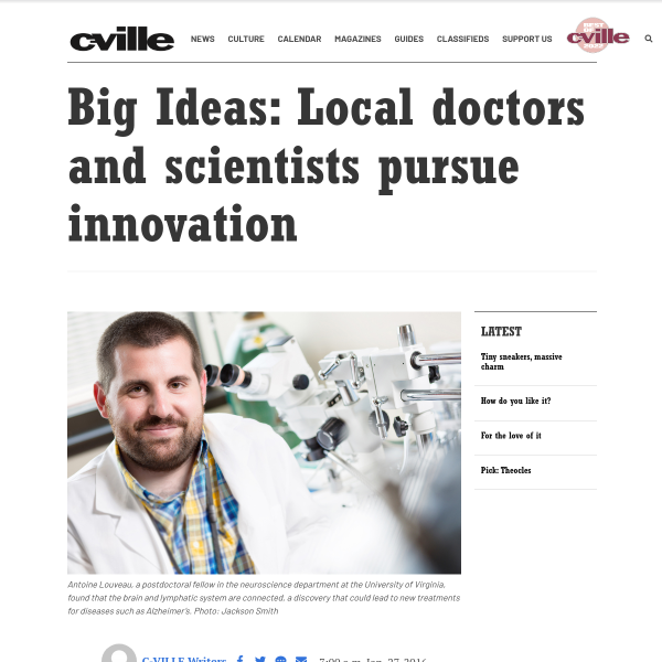 Big Ideas: Local doctors and scientists pursue innovation