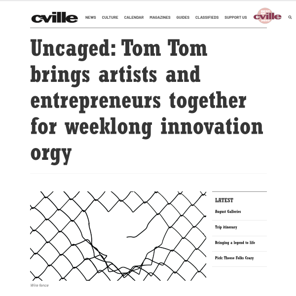 Uncaged: Tom Tom brings artists and entrepreneurs together for weeklong innovation orgy