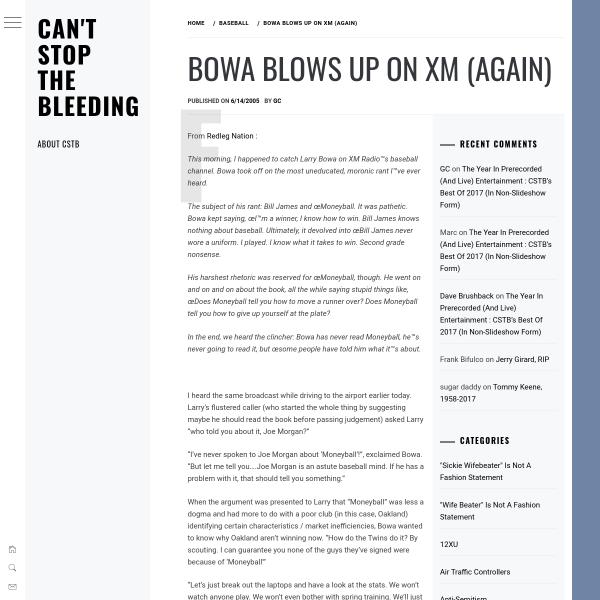 Larry Bowa thought Moneyball was written by Bill James