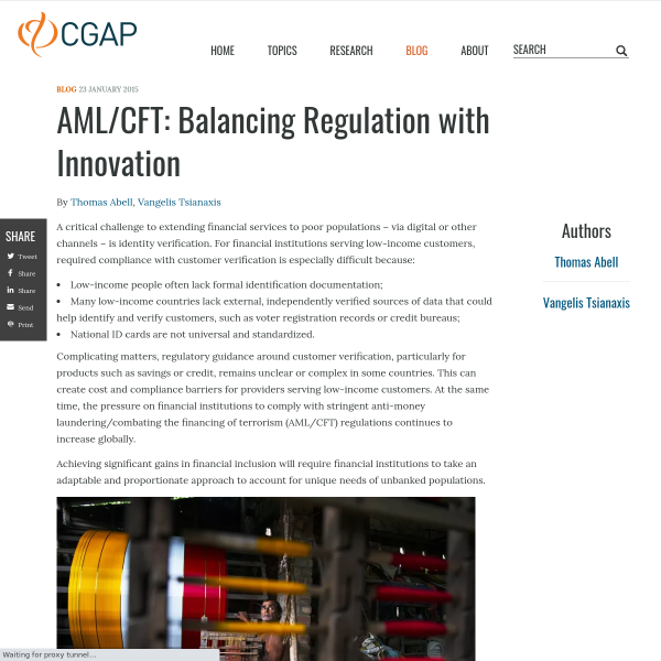 AML/CFT: Balancing Regulation with Innovation