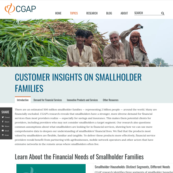 Financial Innovation for Smallholder Families