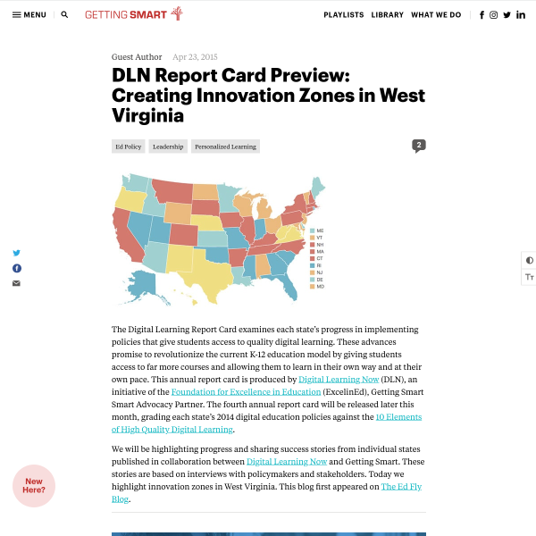 DLN Report Card Preview: Creating Innovation Zones in West Virignia