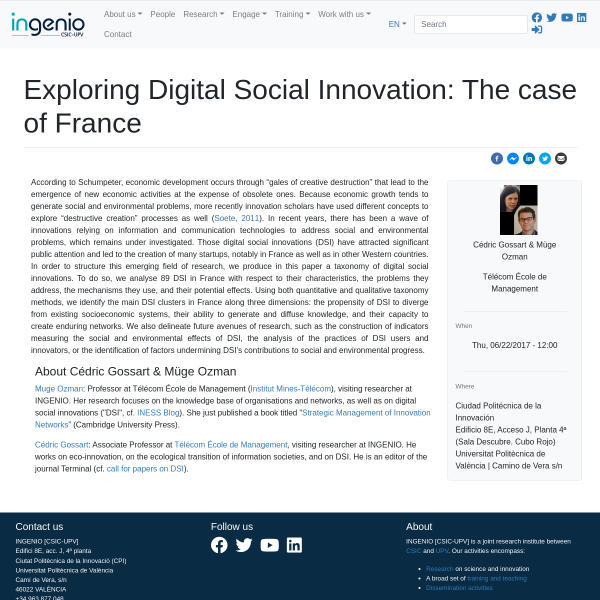 Exploring Digital Social Innovation: The case of France