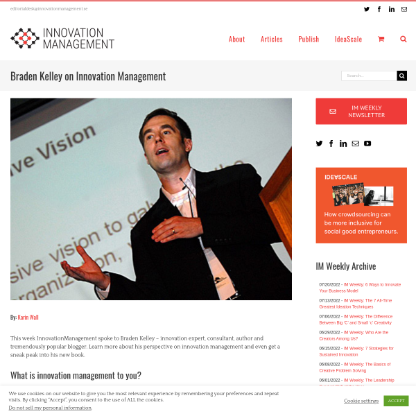 Braden Kelley on Innovation Management - Innovation Management