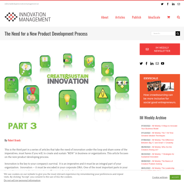 The Need for a New Product Development Process - Innovation Management