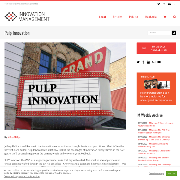 Pulp Innovation - Innovation Management