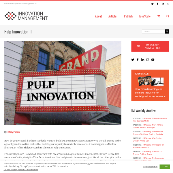 Pulp Innovation II - Innovation Management