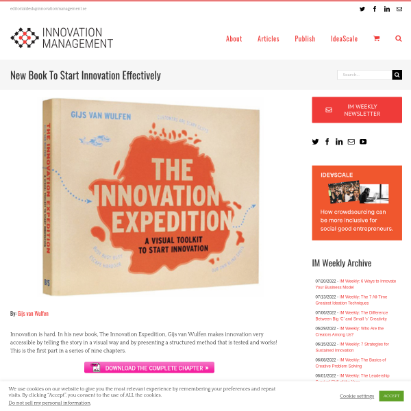 New Book To Start Innovation Effectively - Innovation Management