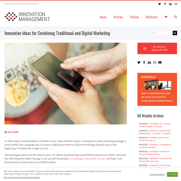 Innovative Ideas for Combining Traditional and Digital Marketing - Innovation Management