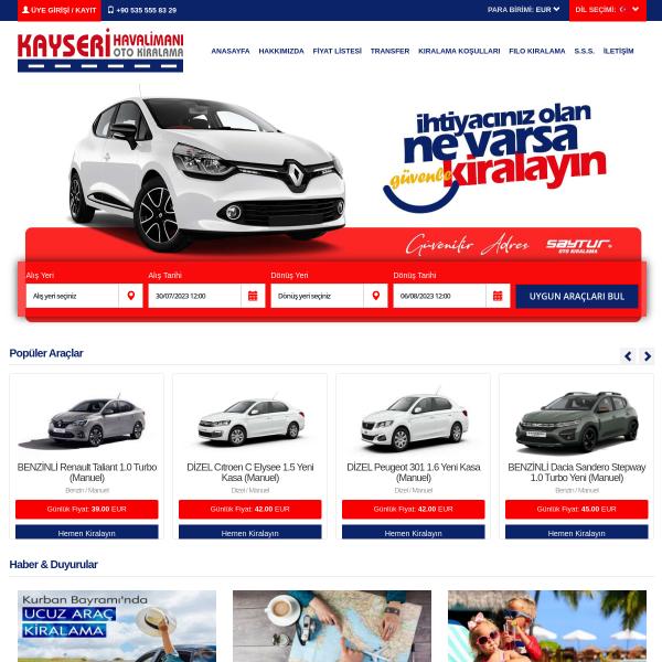kayserihavaalaniotokiralama