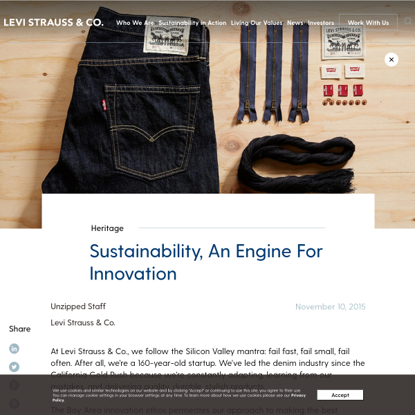 Sustainability, An Engine For Innovation