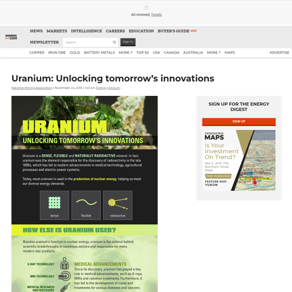 Uranium: Unlocking tomorrow's innovations - MINING.com