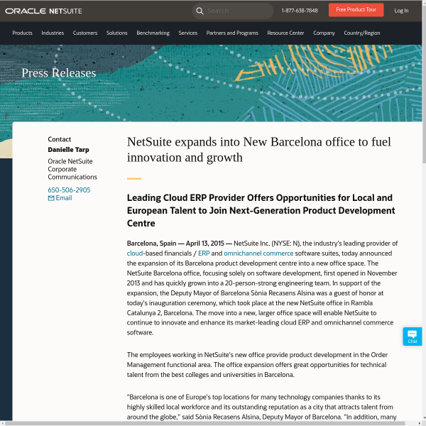 NetSuite expands into New Barcelona office to fuel innovation and growth
