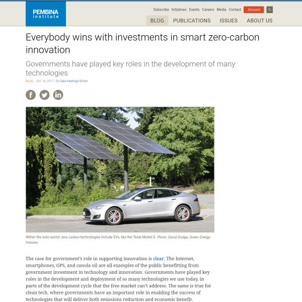 Everybody wins with investments in smart zero-carbon innovation
