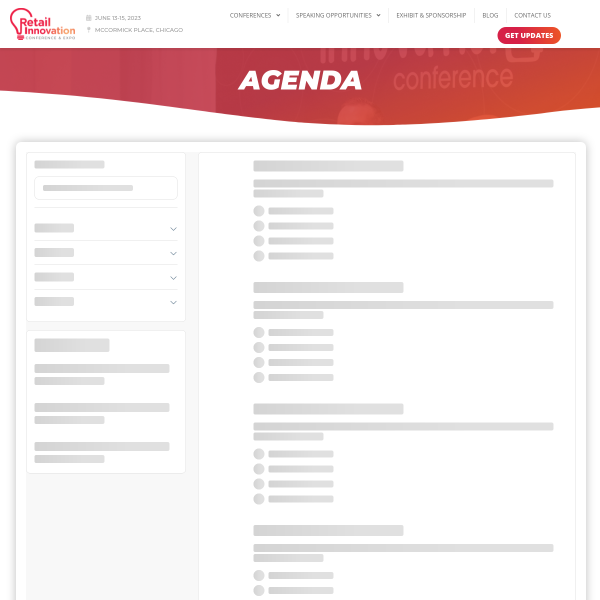 Agenda - Retail Innovation Conference