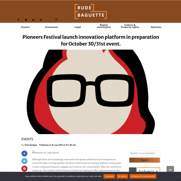 Pioneers Festival launch innovation platform in preparation for October 30/31st event.