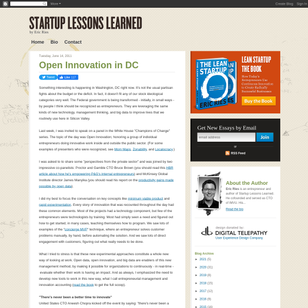 Open Innovation in DC