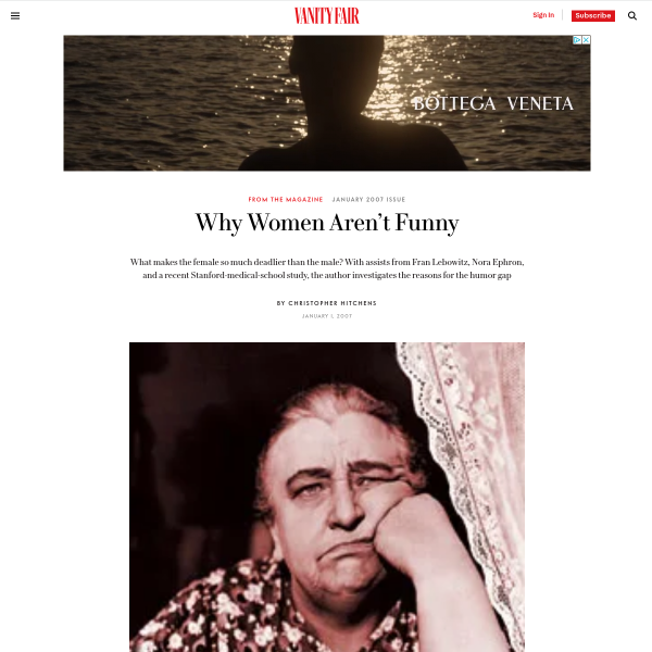 Why Women Aren't Funny