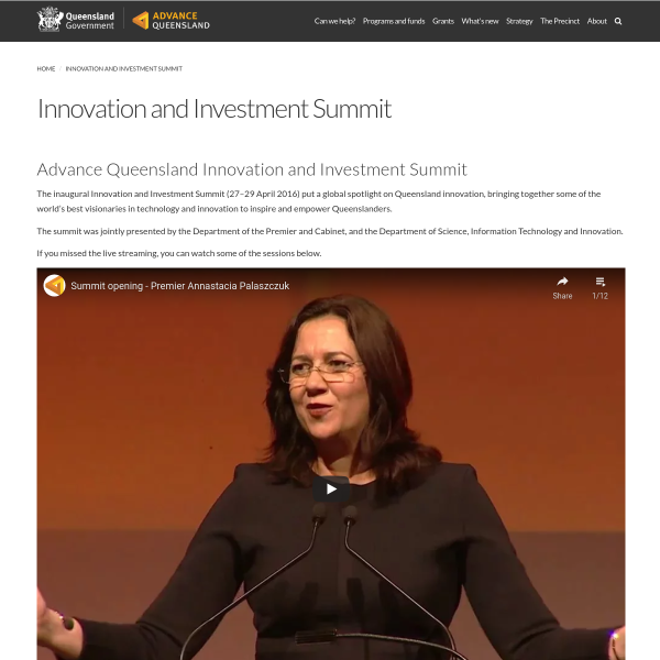Innovation and Investment Summit
