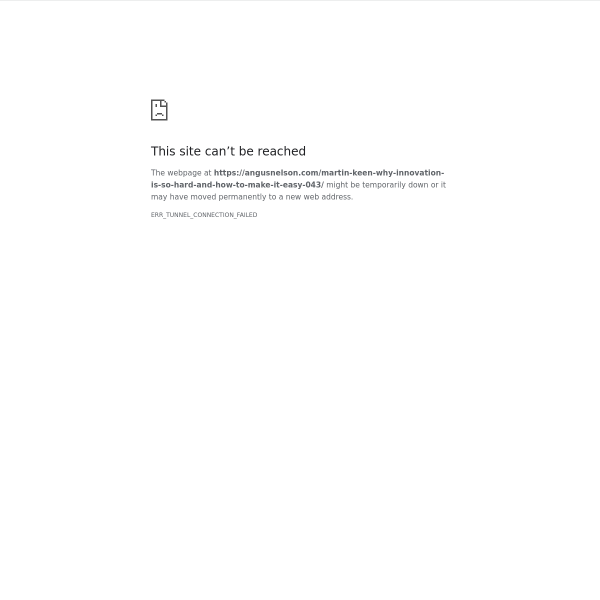 Why innovation is so hard and how to make it easy w/ Martin Keen