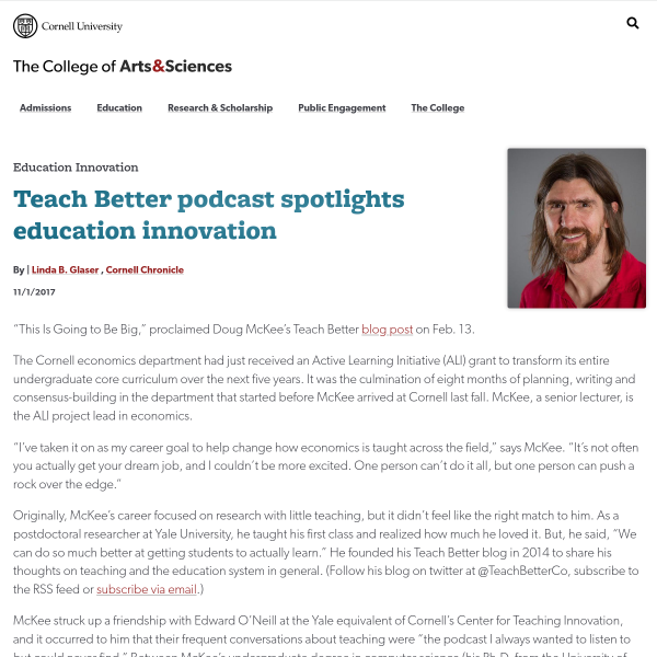 Teach Better podcast spotlights education innovation