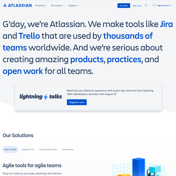 Atlassian | Software Development and Collaboration Tools screenshot