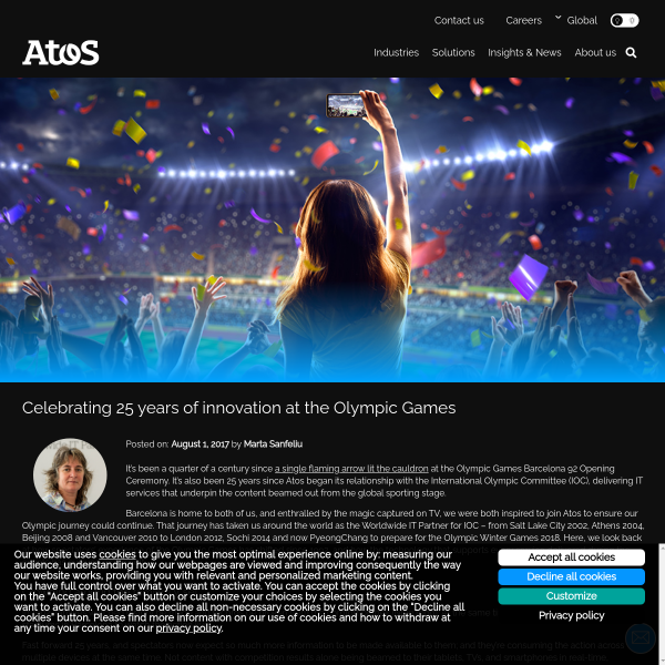 Celebrating 25 years of innovation at the Olympic Games - Atos