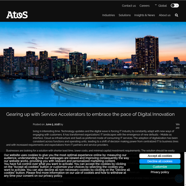 Gearing up with Service Accelerators to embrace the pace of Digital Innovation - Atos