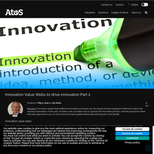Innovation Value Webs to drive innovation Part 2 - Atos