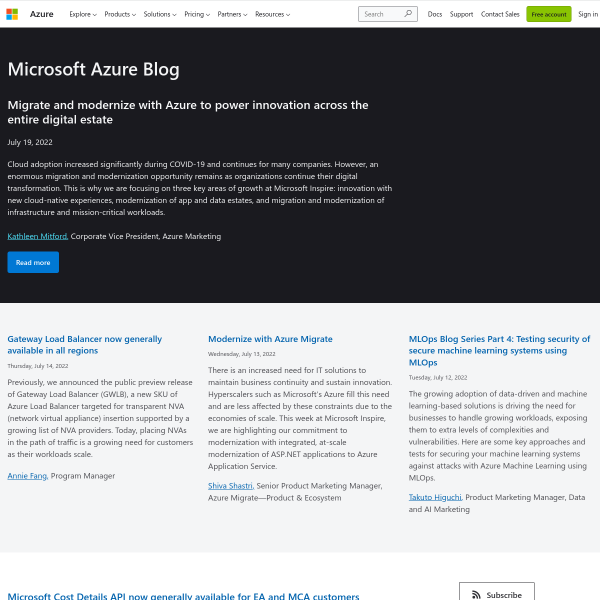 Azure Government – technology innovation shaping the future